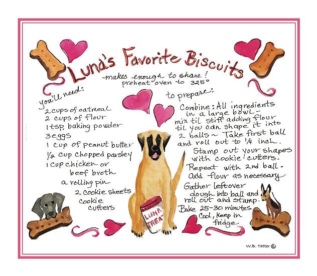 Tea Towel - Luna's Favorite Biscuits