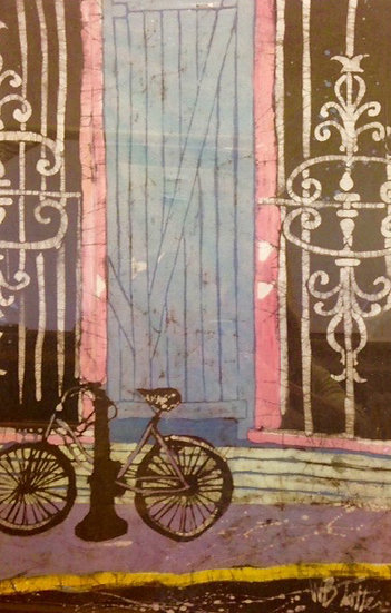 The Bike and the Blue Door