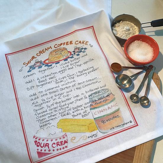 Tea Towel - Sour Cream Coffee Cake