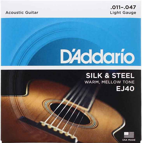 D'Addario EJ40 Silk & Steel Light (3 Pack)