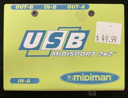 Midiman USB Midisport 2x2 USED!!!