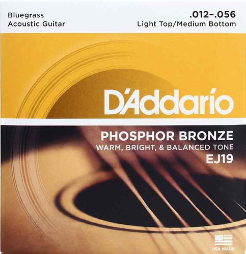 D'Addario EJ19 Phosphor Bronze Light Top / Medium Bottom (4 Pack)