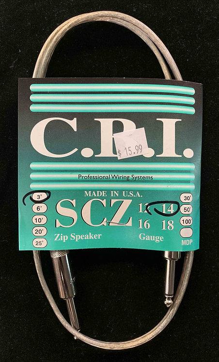 CBI 3' Speaker Cable, 14 Gauge