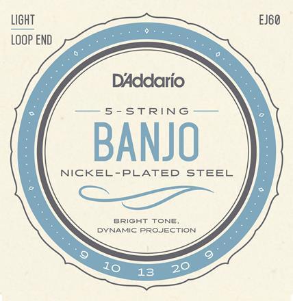 D'Addario EJ60 Regular Light 5-String Banjo (6 Pack)