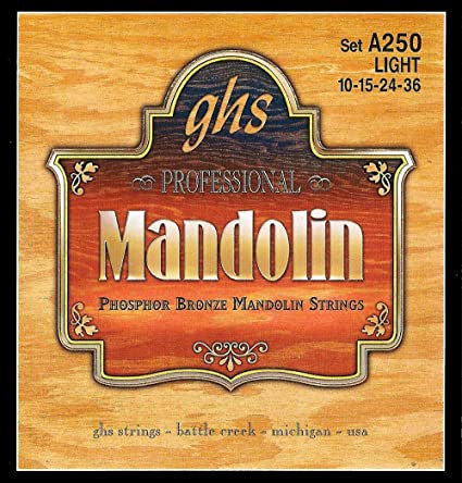 GHS A250 Light Phosphor Bronze Mandolin (4 Pack)
