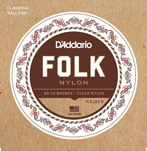 D'Addario EJ33 Folk Nylon (3 Pack)