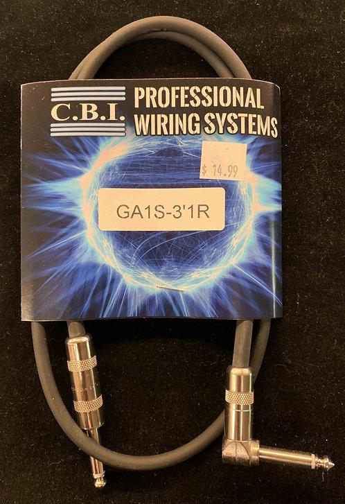 CBI 3' Instrument Cable w/1R
