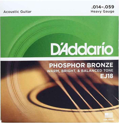 D'Addario EJ18 Phosphor Bronze Heavy (4 Pack)