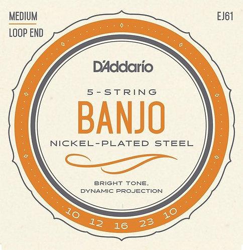 D'Addario EJ61 Medium 5-String Banjo (6 Pack)