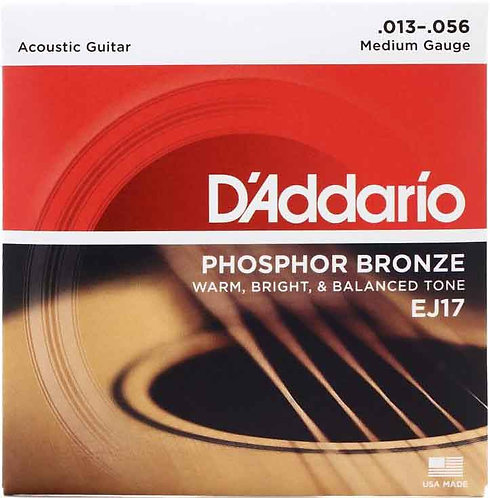 D'Addario EJ17 Phosphor Bronze Medium (4 Pack)