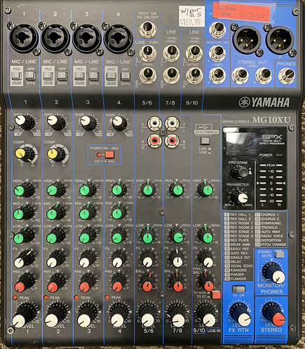 Yamaha MG10XU Mixing Console USED!!!