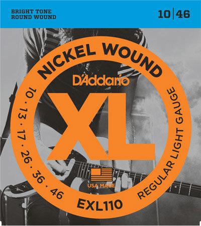 D'Addario EXL110 Regular Light 4 Pack