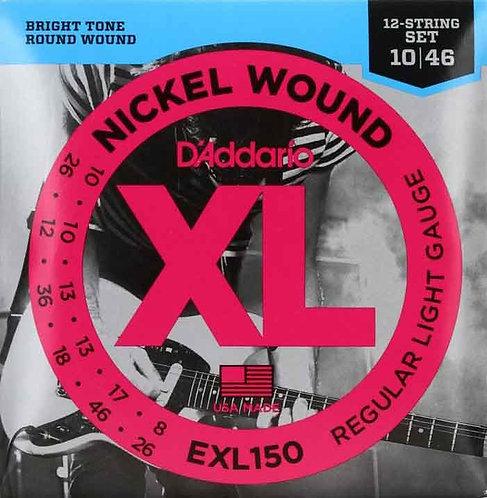D'Addario EXL150 Regular Light 12-String 3 Pack