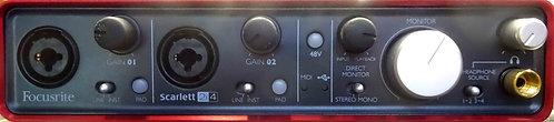 Focusrite Scarlett 2i4 USB Audio Interface USED!!!