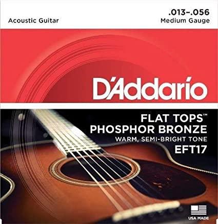 D'Addario EFT17 Phosphor Bronze Flat Tops Medium (2 Pack)