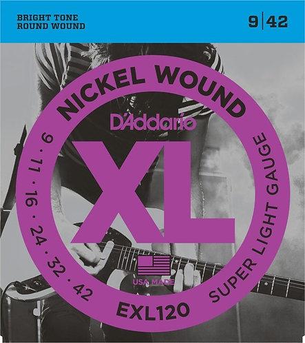 D'Addario EXL120 Super Light 4 Pack