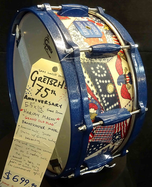 Gretsch 75th Anniversary Snare Drum USED!!!