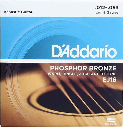 D'Addario EJ16 Phosphor Bronze Light (4 Pack)
