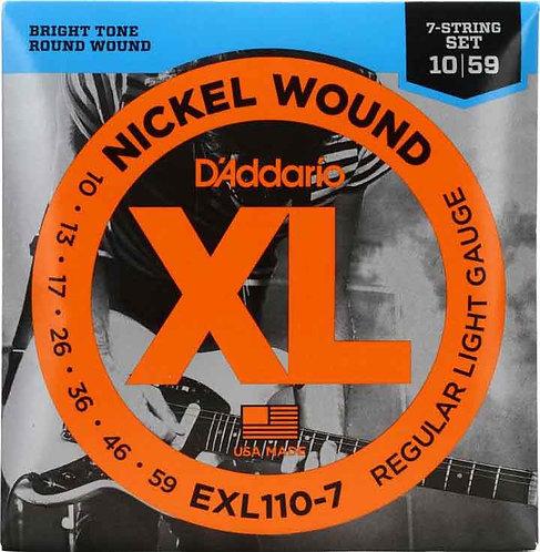 D'Addario EXL110-7 Regular Light 7-String 3 Pack