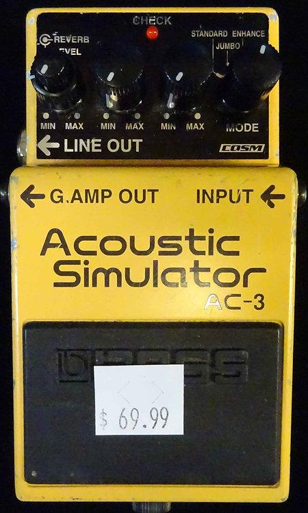 Boss AC-3 Acoustic Simulator USED!!!