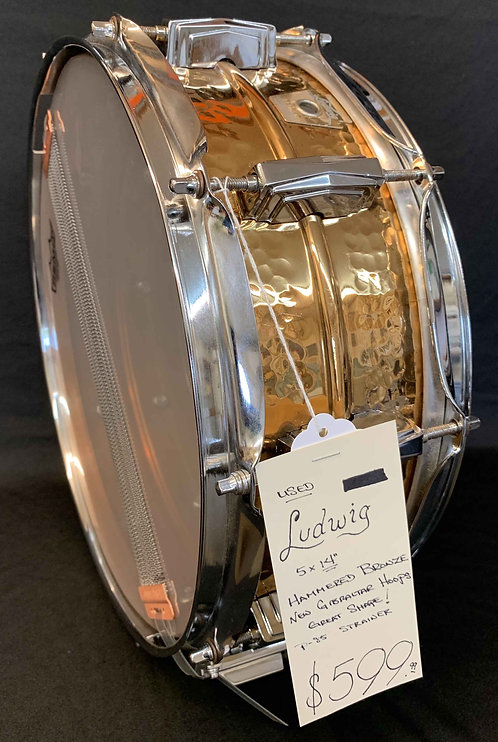 Ludwig Hammered Bronze Snare USED!!!