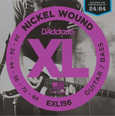 D'Addario EXL156 Guitar/Bass Fender VI (2 Pack)