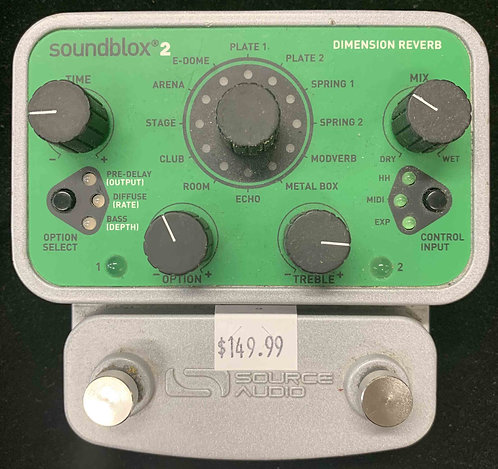 Source Audio Soundblox 2 Dimension Reverb USED!!!