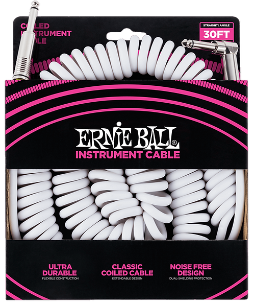 Ernie Ball 30' Coiled Instrument Cable