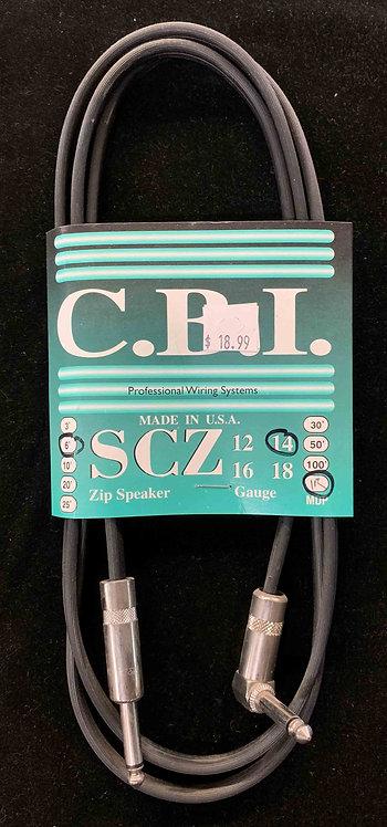 CBI 6' Speaker Cable w/1R, 14 Gauge