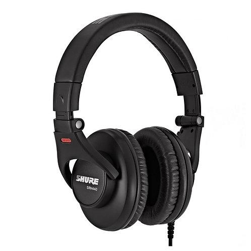 Shure SRH440 Closed-Back Over-Ear Studio Headphones NEW!!!