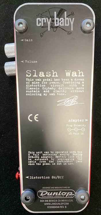 Dunlop Cry Baby Slash Wah USED!!!