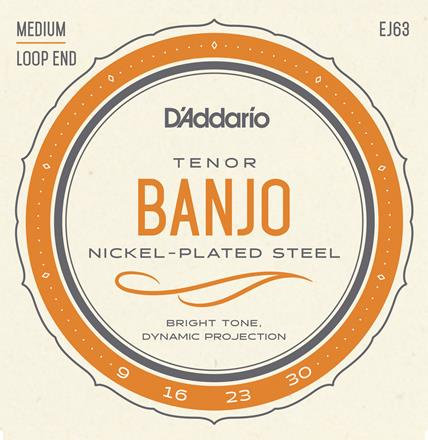 D'Addario EJ63 Medium Tenor Banjo (6 Pack)