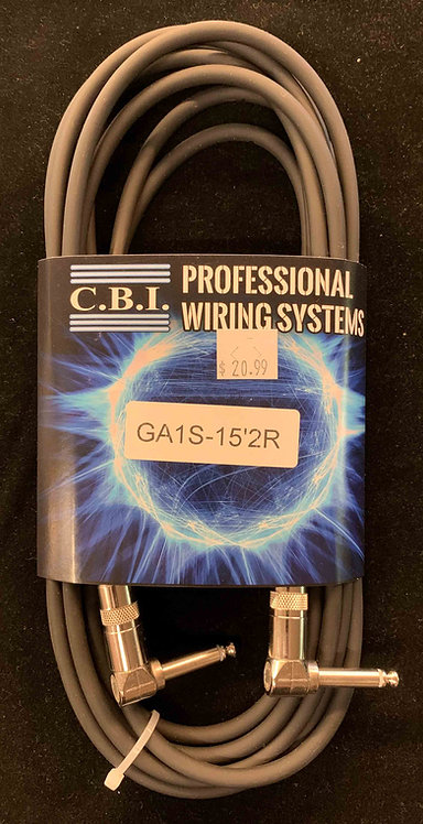 CBI 15' Instrument Cable w/2R