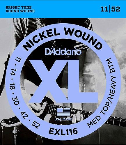 D'Addario EXL116 Medium Top/Heavy Bottom 3 Pack