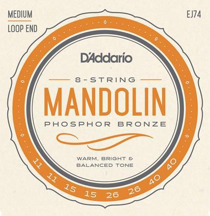 D'Addario EJ74 Medium Mandolin (4 Pack)