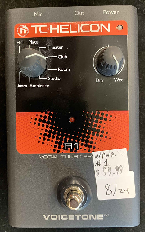 TC Helicon R1 Vocal Tuned Reverb USED!!!