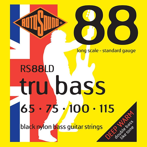 Rotosound RS88LD Tru Bass 88 Black Nylon Flatwound