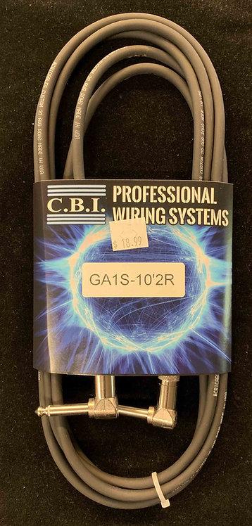 CBI 10' Instrument Cable w/2R