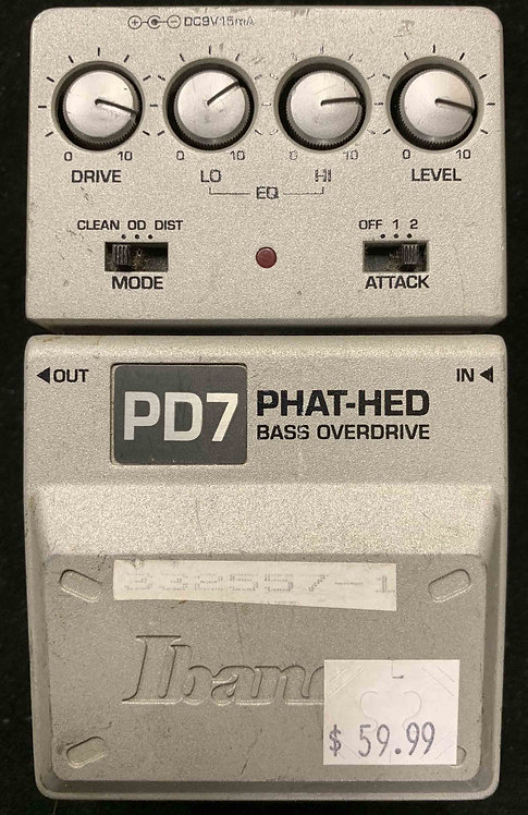 Ibanez PD7 Phat-Hed Bass Overdrive USED!!!
