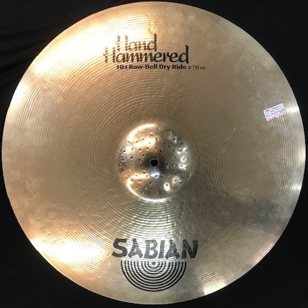 """21"""" Sabian HH Raw Bell Dry Ride USED!!!"""