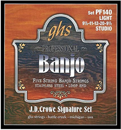 GHS PF140 J.D. Crowe Signature Studio Light 5-String Banjo (6 Pack)