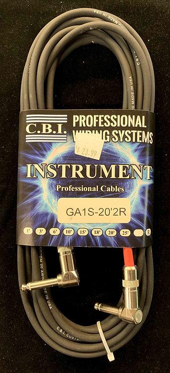 CBI 20' Instrument Cable w/2R