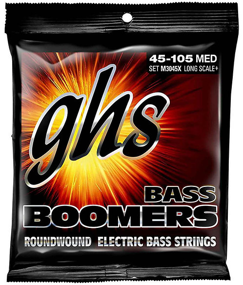 GHS M3045X Long Scale Plus Medium Bass Boomers (2 Pack)