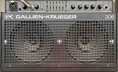 Gallien Krueger 206 200MV 206 USED!!! GK 206