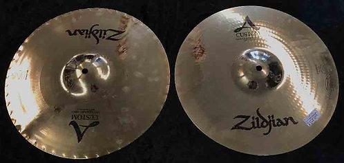 "Zildjian 14"" A Custom Master Sound Hats USED!!!"