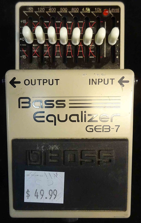 Boss GEB-7 Bass Equalizer USED!!! GEB7