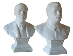 Companion Busts of Lenin and Stalin