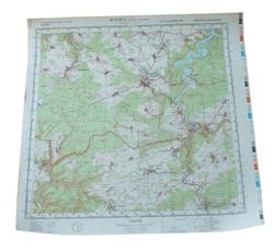 NVA Classified Map of Border Region Moorbad-Lobenstein