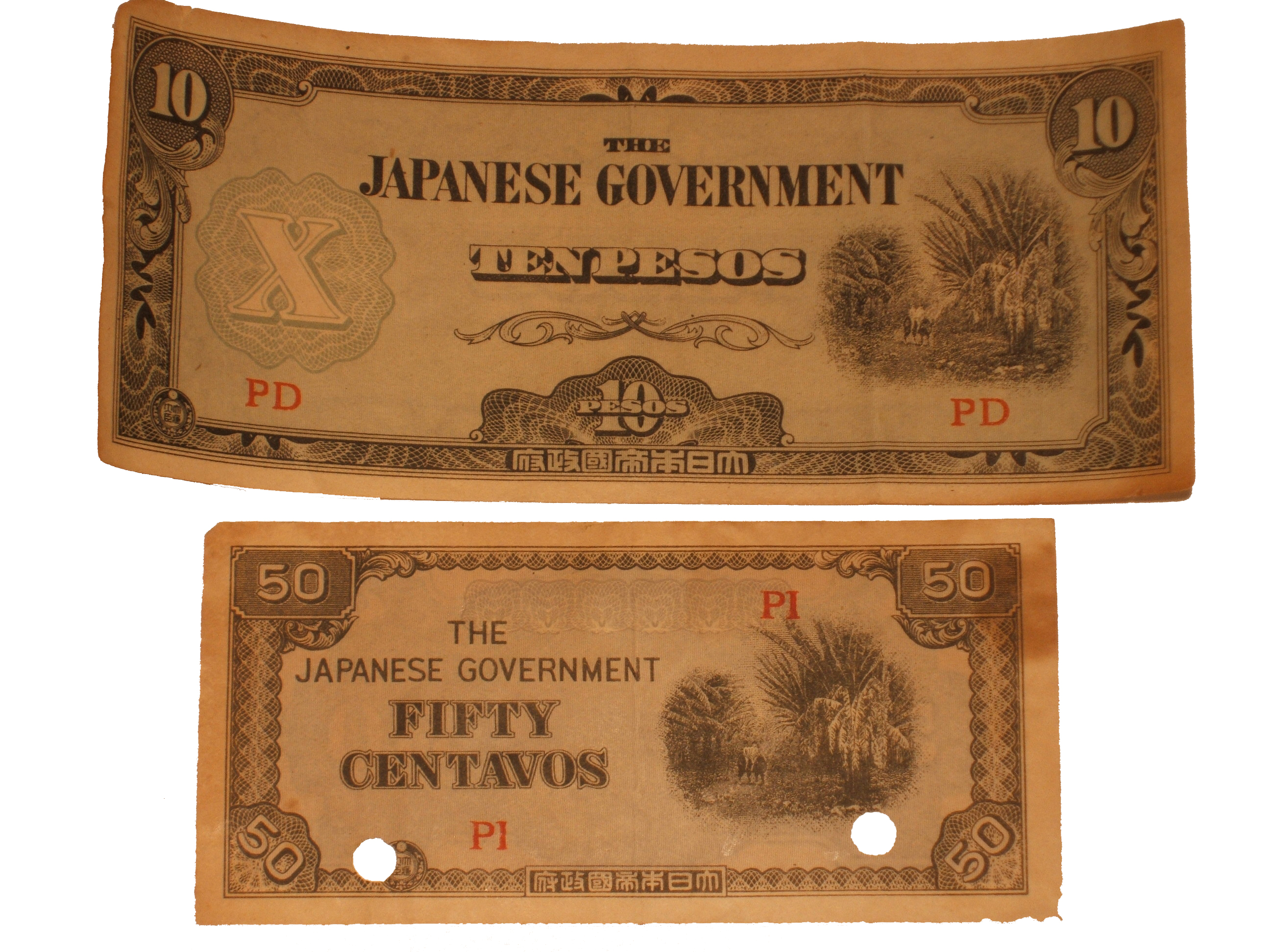 WWII-era Japanese Philippines Occupation Money
