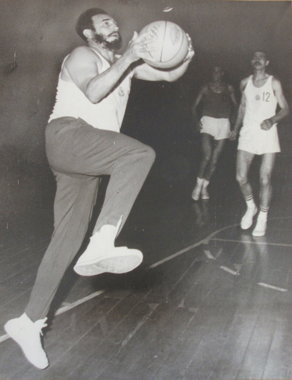 Photograph of Fidel Castro Playing Basketball